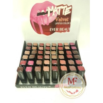 "Помада ""Ever Beauty Matte Velvet Lipstick"" (цвета mix 48 шт)"