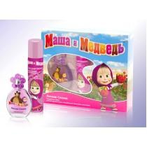 Подарочный набор Маша и Медведь Лесная Сказка (детская душистая вода 35 мл+лак д/волос 75 мл)