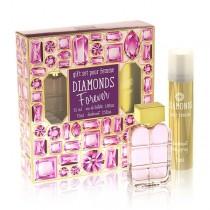 под.наб. Diamonds Forever жен (туалетная вода 55 мл+ дезодорант 75 мл)