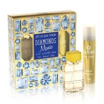 под.наб. Diamonds Mania жен (туалетная вода 55 мл+ дезодорант 75 мл)