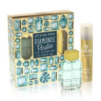 под.наб. Diamonds Paradise жен (туалетная вода 55 мл+ дезодорант 75 мл)