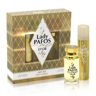 под.наб. Lady Pafos D'or жен (туалетная вода 55 мл+ дезодорант 75 мл)