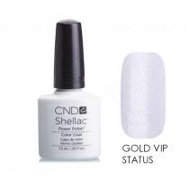 Лак CND Shellac (цвет Gold Vip Status), 7.3ml (ПОЛУПРОЗРАЧНЫЙ)