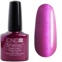 Лак CND Shellac (цвет Tango Passion), 7.3ml (Баклажановый)
