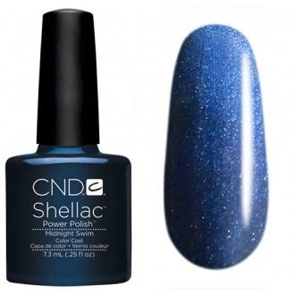 Лак CND Shellac (цвет Midnight Swim), 7.3ml (Тёмно-синий)