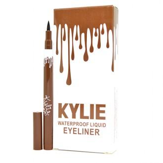 Kylie Waterproof Liquid Eyeliner (выдвижной цвет коричневый 12 шт)